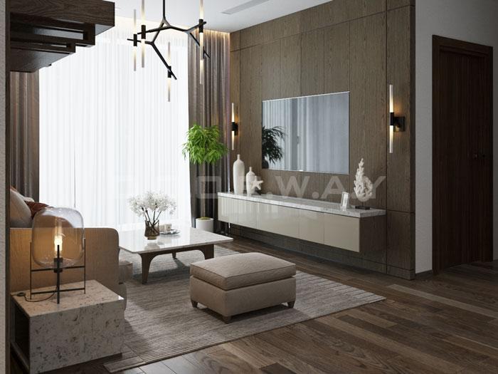 (3)Thiết kế nội thất chung cư đẹp hiện đại