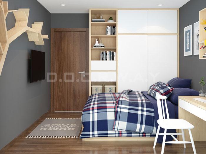 (1)Thức tế thiết kế thi công căn hộ chung cư 3 phòng ngủ hiện đại