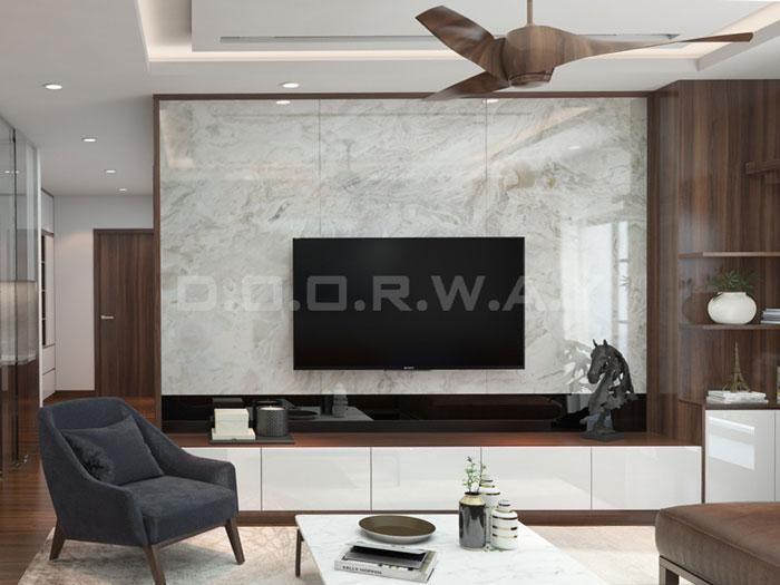 (10)Thức tế thiết kế thi công căn hộ chung cư 3 phòng ngủ hiện đại