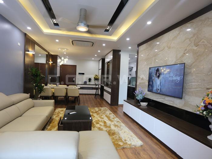 (18)Thức tế thiết kế thi công căn hộ chung cư 3 phòng ngủ hiện đại