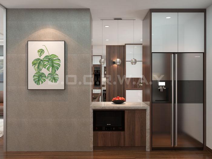 (5)Thức tế thiết kế thi công căn hộ chung cư 3 phòng ngủ hiện đại