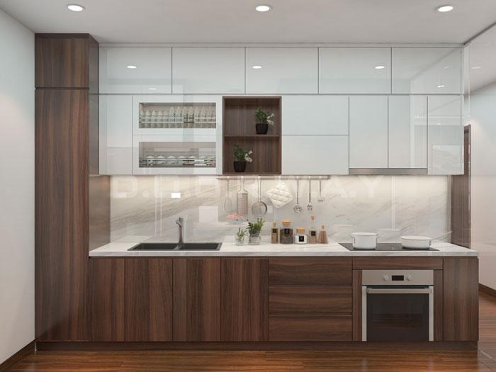 (6)Thức tế thiết kế thi công căn hộ chung cư 3 phòng ngủ hiện đại