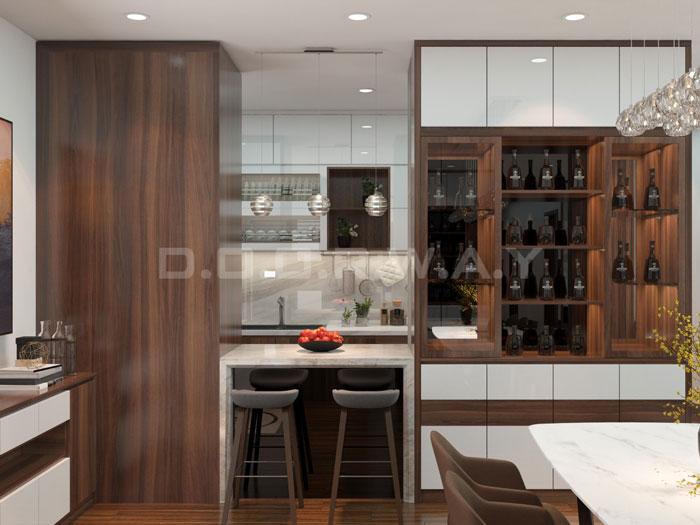 (7)Thức tế thiết kế thi công căn hộ chung cư 3 phòng ngủ hiện đại