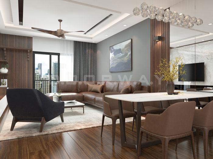 (8)Thức tế thiết kế thi công căn hộ chung cư 3 phòng ngủ hiện đại
