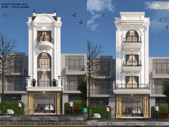 (1)Phương án kiến trúc nhà phố 4 tầng