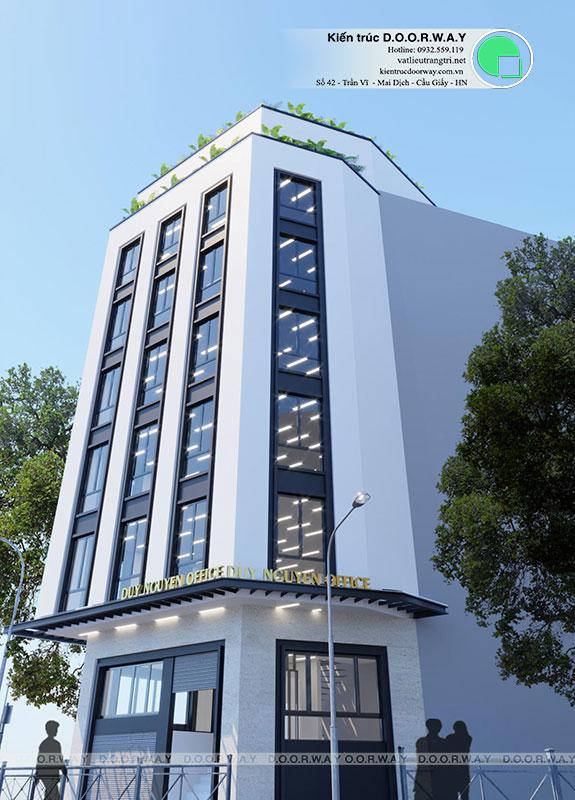 (1)Kiến trúc nhà phố hiện đại 7 tầng