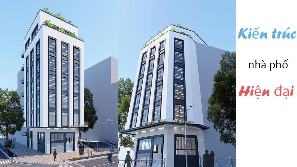 Kiến trúc nhà phố hiện đại 7 tầng