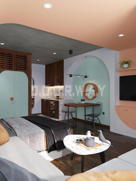 (4)Thiết kế nội thất nhà cho thuê phong cách hiện đại