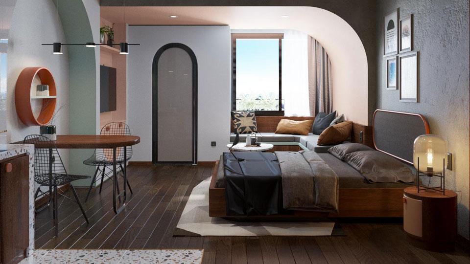 Thiết kế nội thất nhà cho thuê phong cách hiện đại
