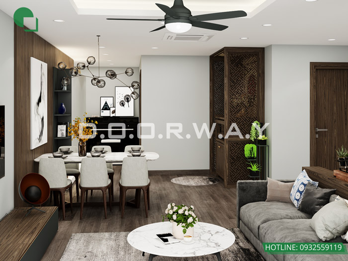 (2)Thiết kế - thi công hoàn thiện nội thất chung cư Eco Dream