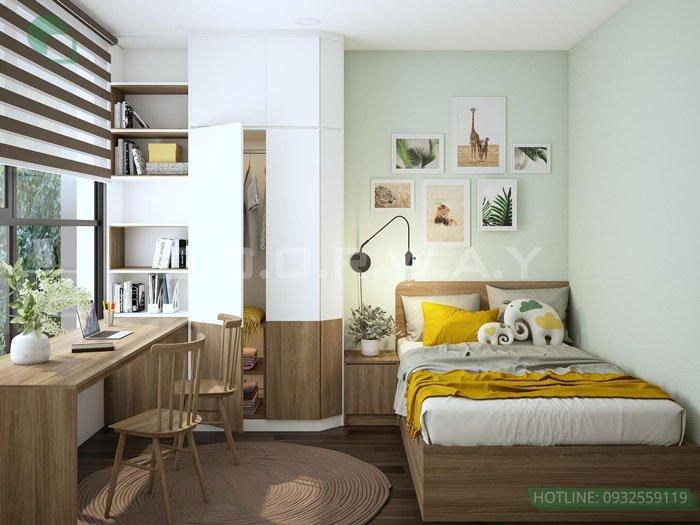 (7)Thiết kế căn hộ 2 phòng ngủ - Anh Hậu chung cư Green Pearl