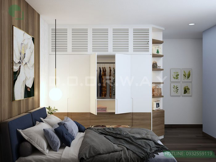 (3)Thiết kế căn hộ 2 phòng ngủ - Anh Hậu chung cư Green Pearl