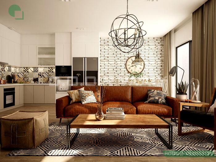 (9)Thiết kế chung cư theo phong cách vintage đẹp hoài cổ
