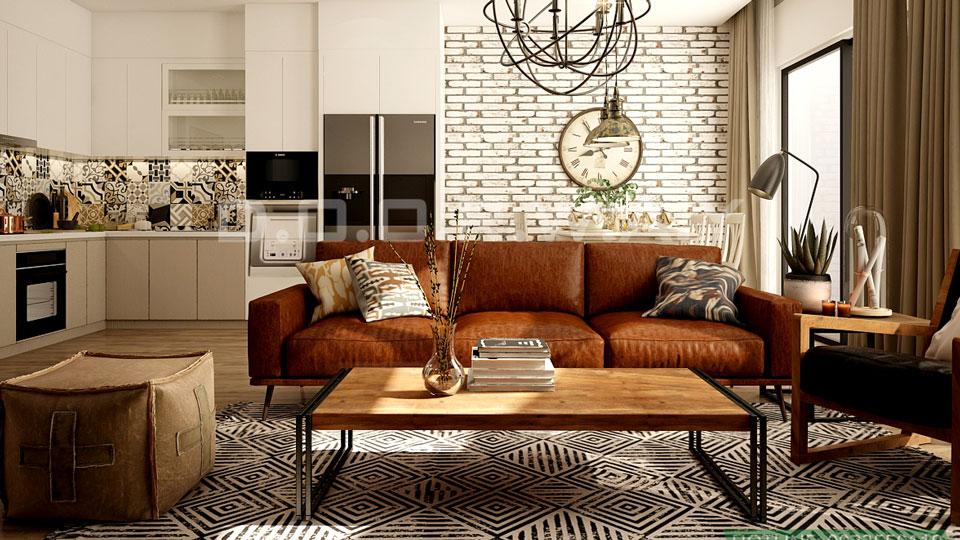 Thiết kế chung cư theo phong cách vintage đẹp hoài cổ