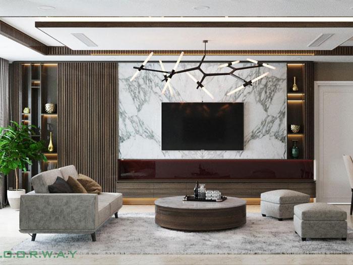 (14)Thiết kế nội thất chung cư cao cấp D.' Le Roi Soleil