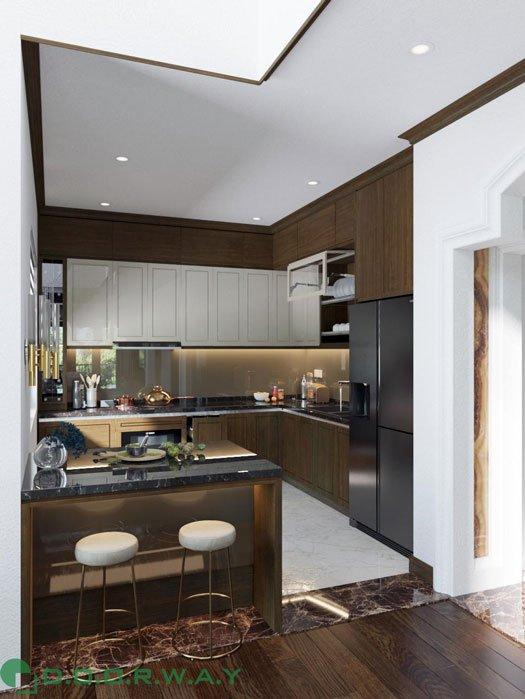 (2)thiết kế nội thất phòng khách anh Quang