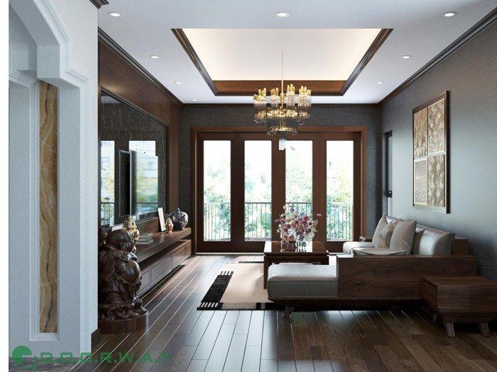 (4)thiết kế nội thất phòng khách anh Quang
