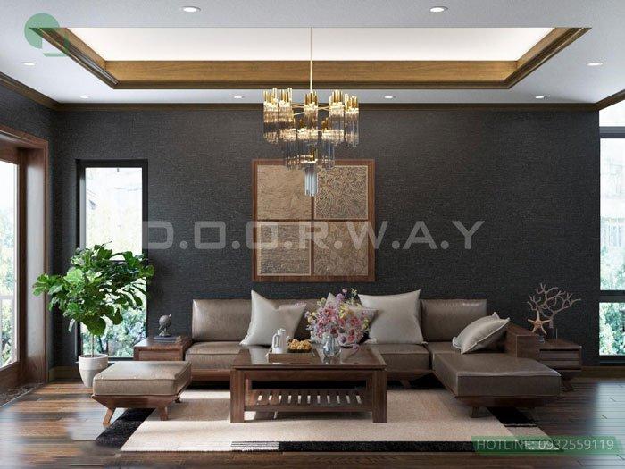 (7)thiết kế nội thất phòng khách - anh Quang