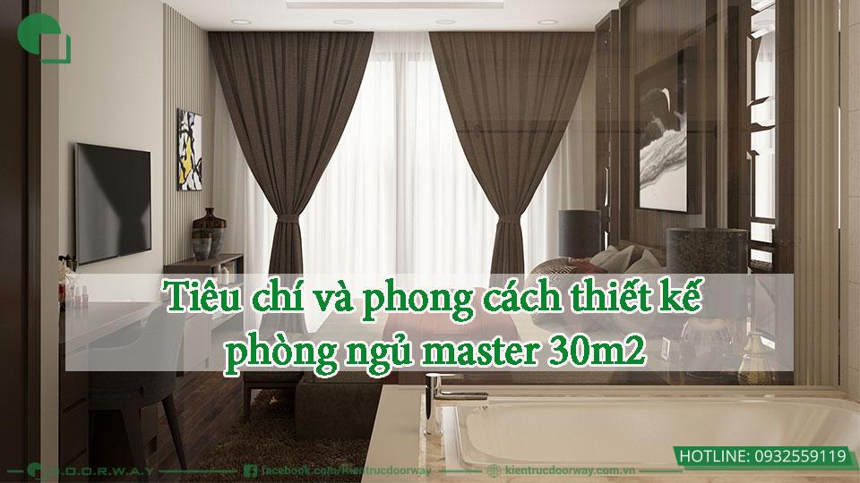 Khi sự sang trọng thống trị phòng ngủ master 30m2