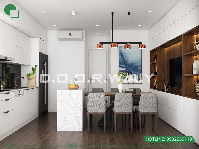 Trang trí phòng bếp đẹp mà đơn giản theo phong cách hiện đại
