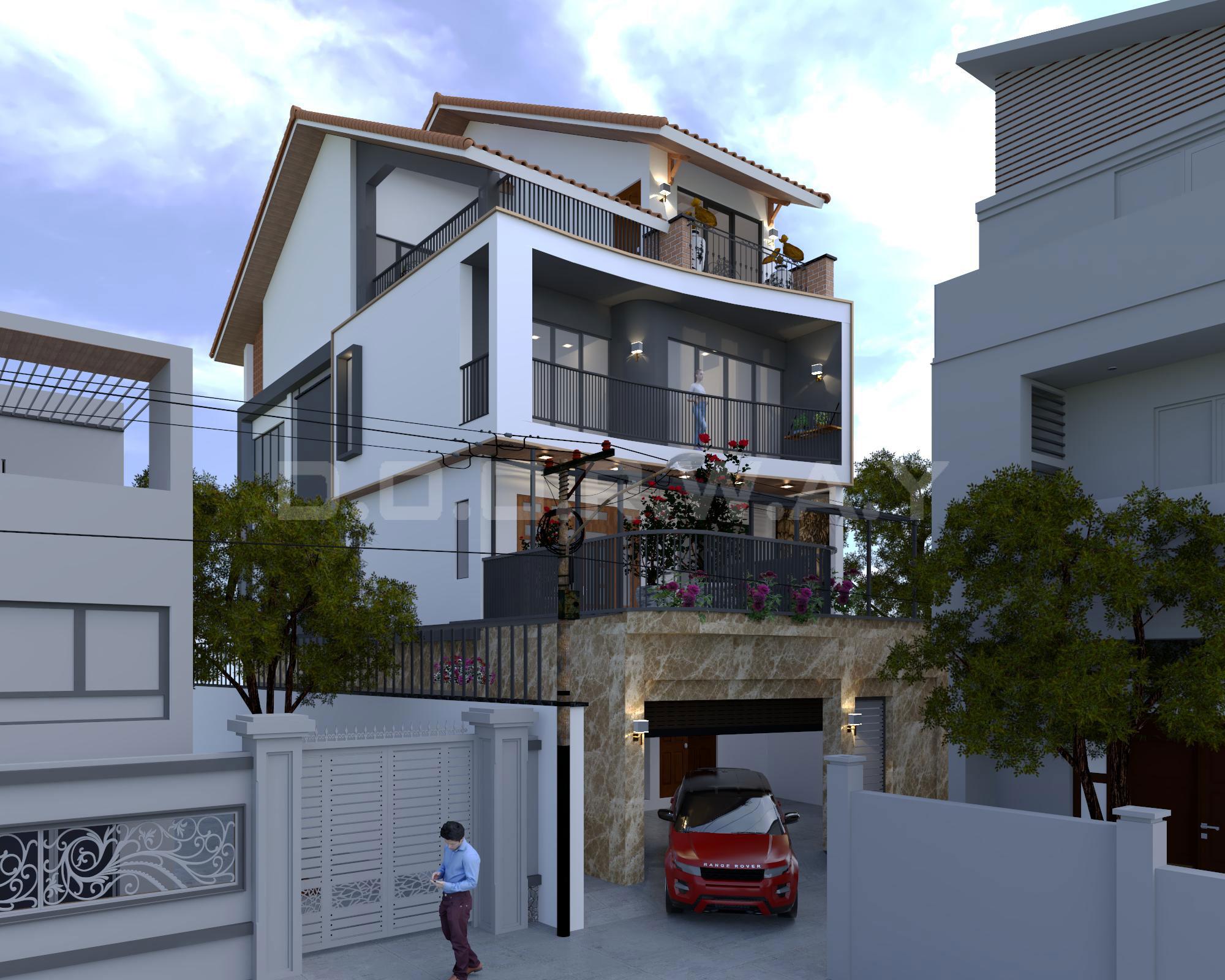 Kiến trúc biệt thự nhà anh Quang - Tây Hồ