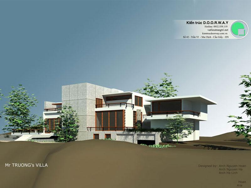 Mẫu thiết kế biệt thự Villa dạng nghỉ dưỡng rộng 500m2 tại Huế do kiến trúc sư D.o.o.r.way thiết kế