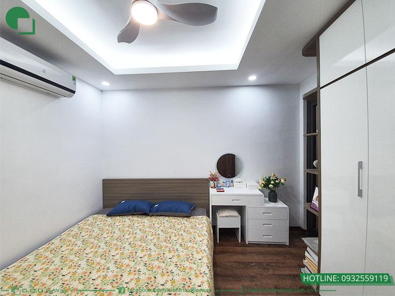 Thiết kế và thi công nội thất phòng ngủ Master