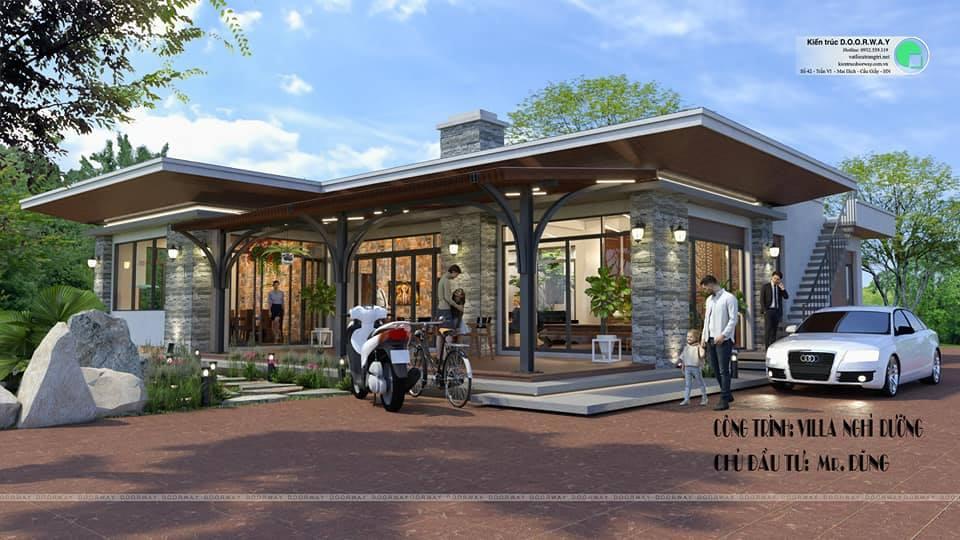 Thiết kế kiến trúc nhà nghỉ dưỡng