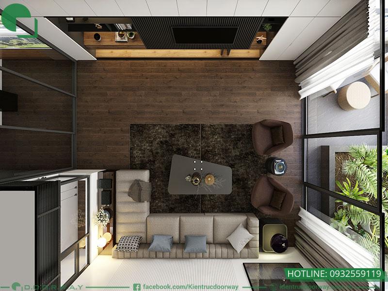 Thiết kế nội thất phòng khách nhà phố đpẹ, hiện đại, thông thoáng và tươi mát