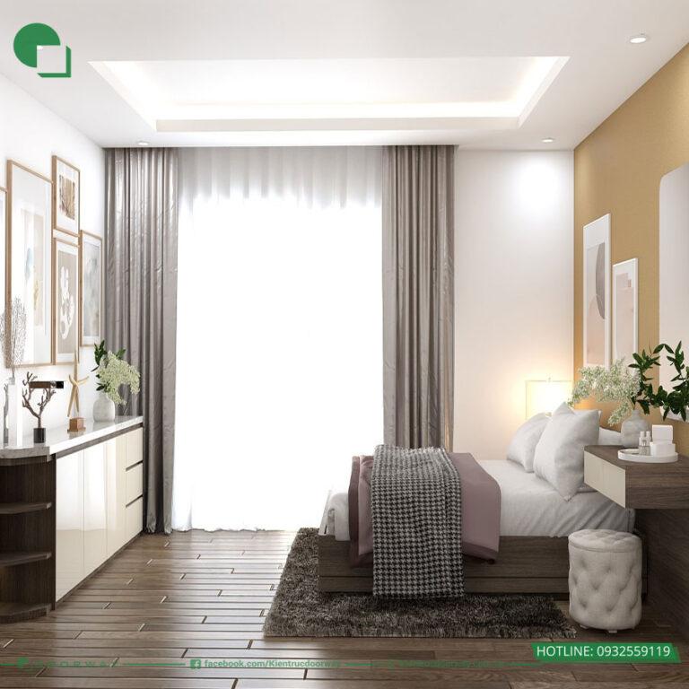 Thiết kế phòng ngủ chung cư the zei