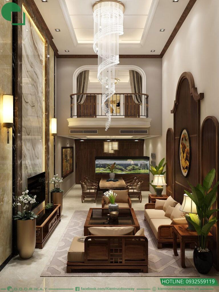 Chất liệu gỗ được dùng trong phong cách thiết kế nội thât shieenj đại tôn lên vẻ đẹp sang trọng