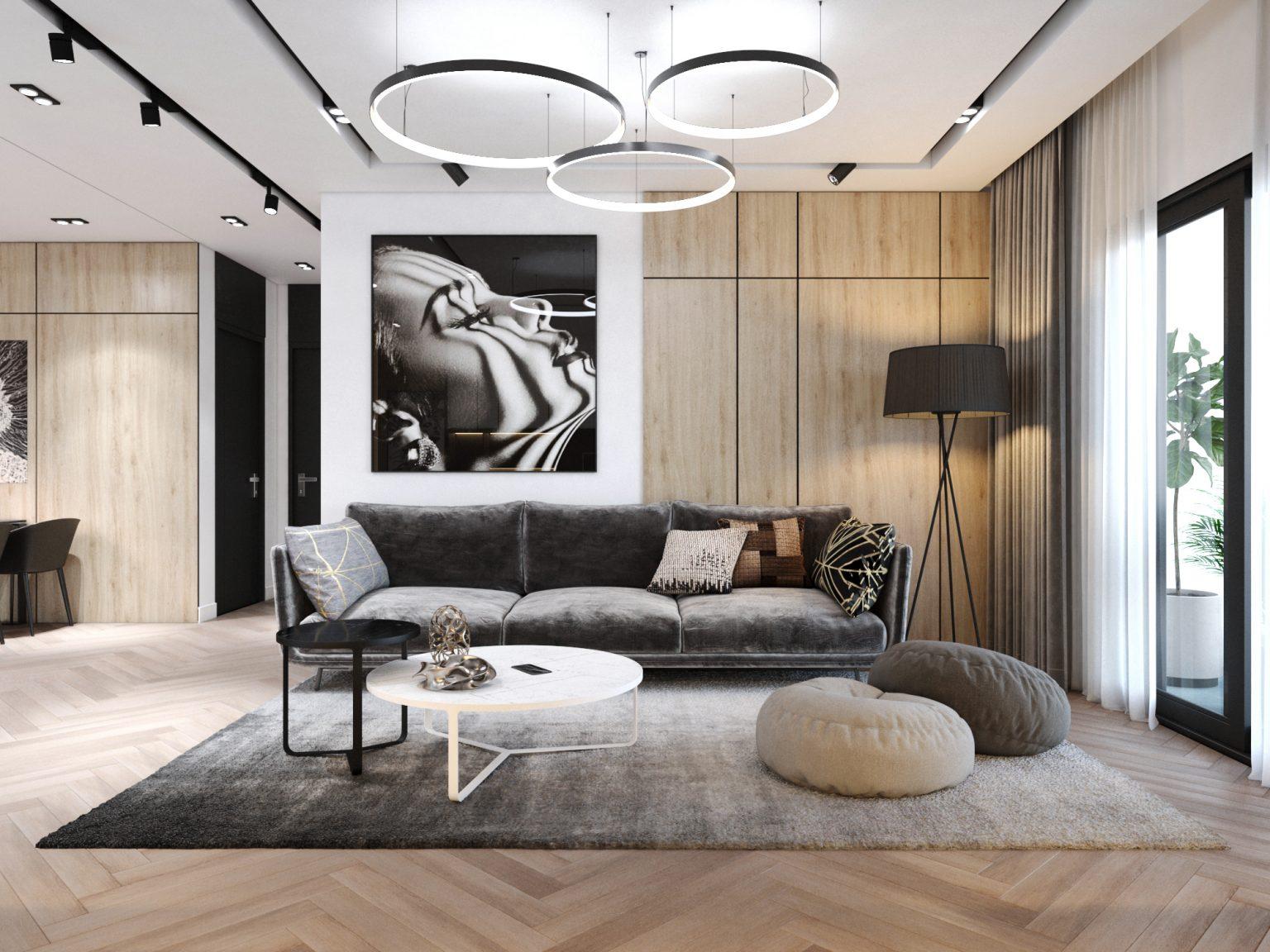 Thiết kế nội căn 3 ngủ chung cư Goldmark City- phòng khách