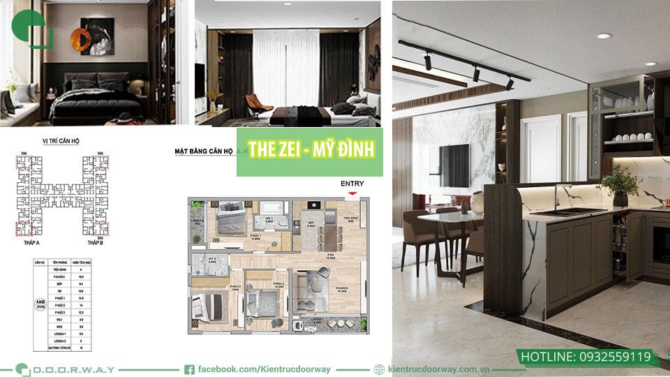 top 3 mẫu thiết kế nội thất chung cư the zei mỹ đình