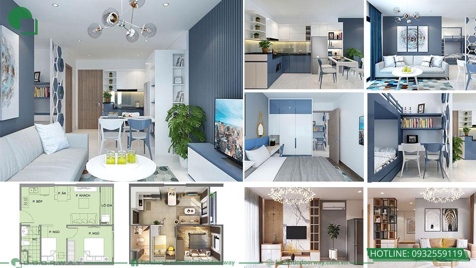 Thiết kế nội thất chung cư 1PN+ 1 Vinhome Ocean Park