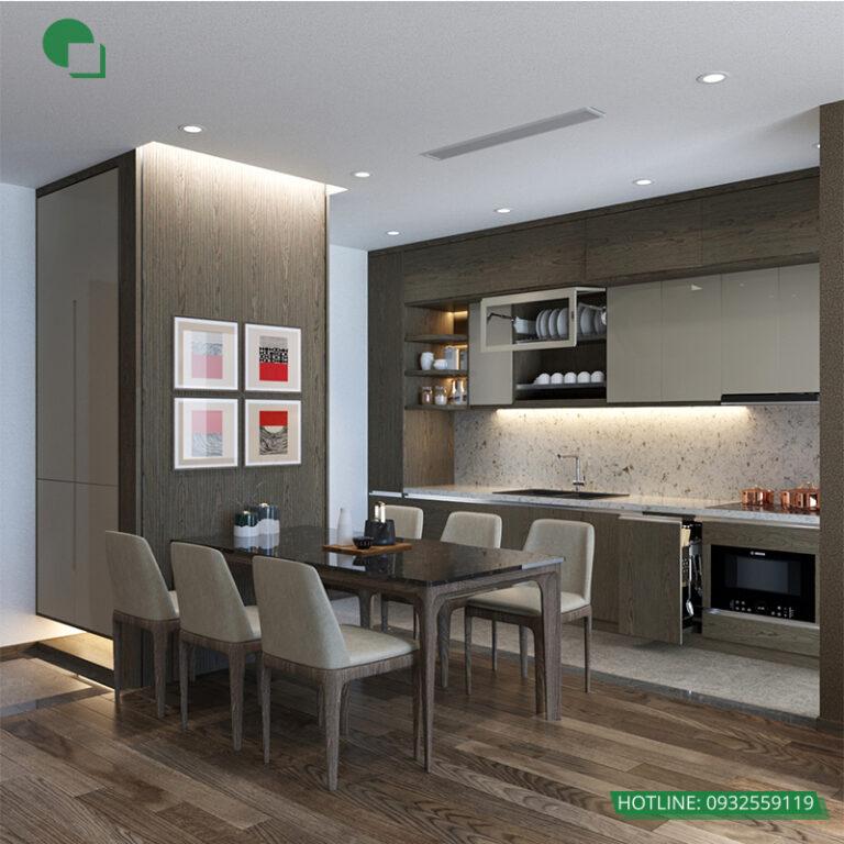Thiết kế phòng bếp  nội thất chung cư goldmark city