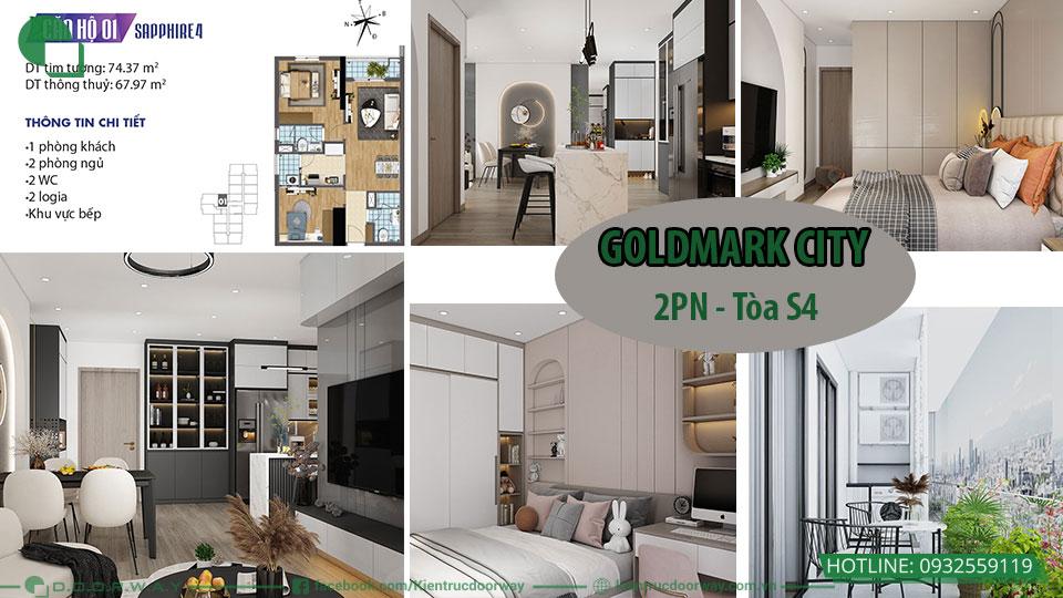 Thiết kế nội thất chung cư goldmark 2PN S4