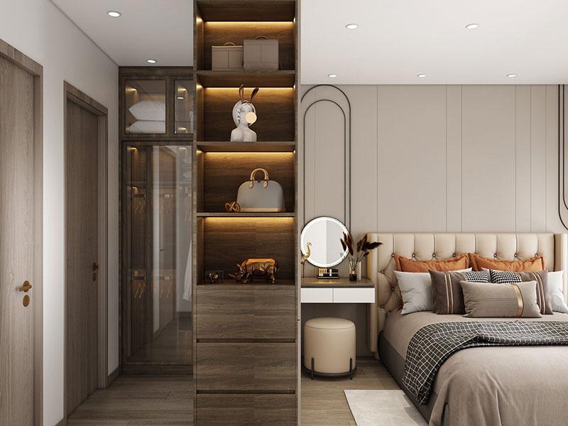 Thiết kế nội thất chung cư goldmark 2PN S4 - PHÒNG NGỦ MASTER
