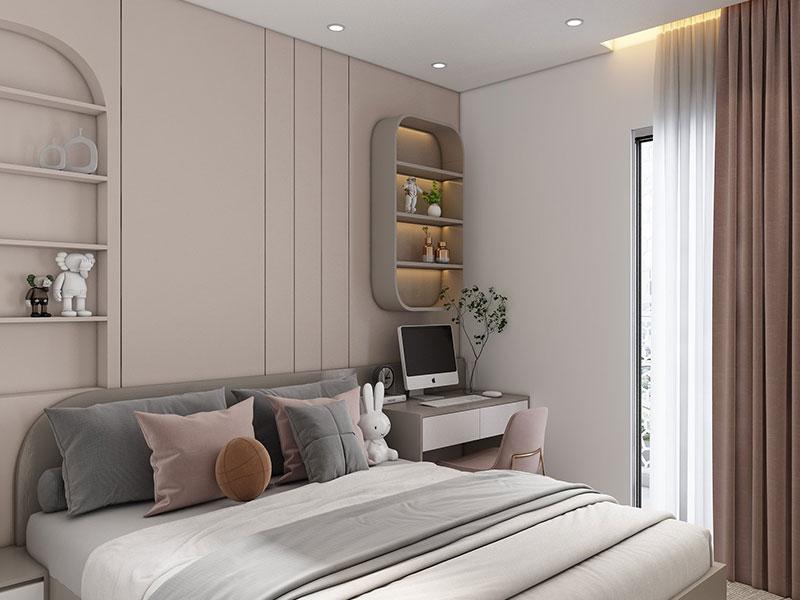 Thiết kế nội thất chung cư goldmark 2PN S4 - PHÒNG NGỦ 2