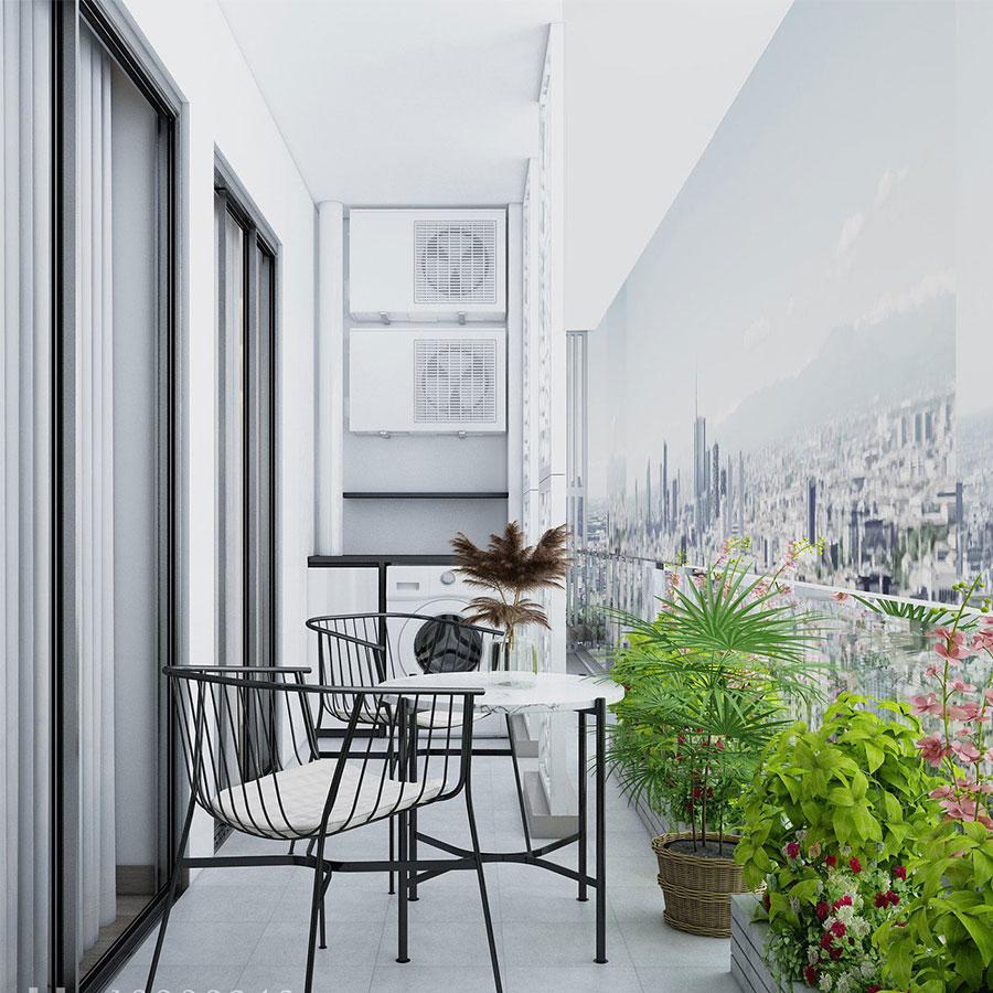 Thiết kế ban công chung cư goldmark city