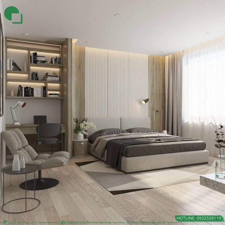 Thiết kế nội thất phòng ngủ master chung cu huyndai hillstate