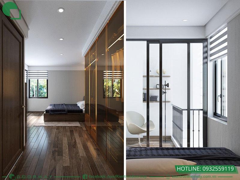 Thiết kế 3D không gian tầng sinh hoạt gia đình- Phòng ngủ nhỏ