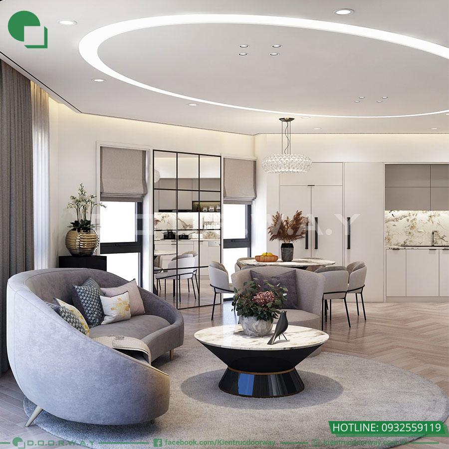 Thiết kế nội thất không gian sinh hoạt gia đinh