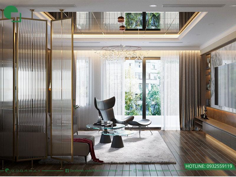 Thiết kế 3D không gian tầng sinh hoạt gia đình