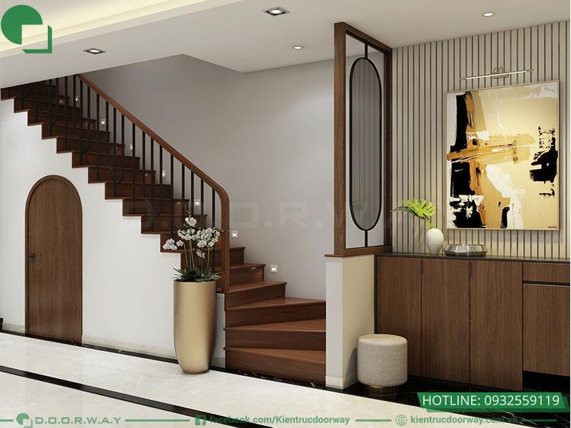 Thiết kế nội thất nhà phố hiện đại chị Hường