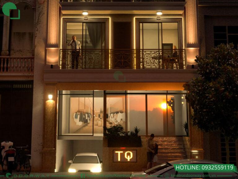 Thiết kế nhà mặt phố tân cổ điển